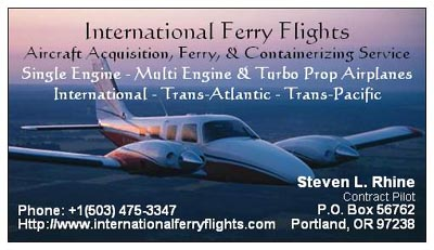 International Ferry Flights & Ferry Pilot Service